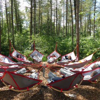 Skogsfloating natuurlijke buiten locatie open space