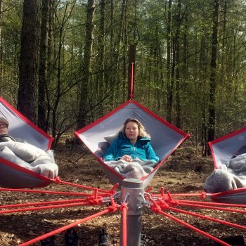 Skogsfloating verfrissend en inspirerend